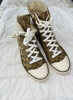 Coach Bonnie Shearling Womens 7.5 Lined High Top Logo Signature Sneakers