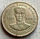 Philippines Silver 1 Piso 1969 Emilio Aguinaldo - High Grade