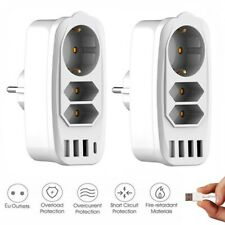 3-fach Steckdosenleiste mit USB Steckerleiste Mehrfachsteckdose Mehrfachstecker