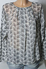 MANGO Tunika Gr. S off-white/grau A-Linie Oversize Chiffon Tunika Wickel-Optik