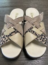 Spenco Womens Memphis Cheetah Slide Size 9 New
