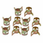 10 Pcs 7mm Spring Band Type Action Fuel Hose Pipe Air Clamp Bronze Tone