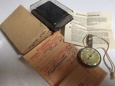 Miles W. Germany Wrist Planimeter Watch w/ Original Band Vintage Pedometer