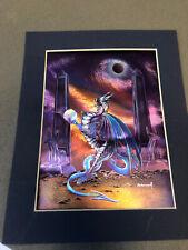 Vintage foil 3-D print Anubis Dragon By Peter Pracownik Limited Ed 2001