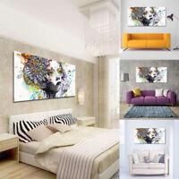 Peinture Huile Fleur Fille Tableau Toile Art Abstraite Moderne Déco Maison Mural