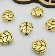 40pcs antiqued copper color 2sided leaf spacer beads h1903