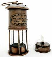 "Nautical Antique Brass 7"" Miner Lamp Vintage Maritime Ship Boat oil Lantern"