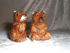 Squirrel and Bear Salt & Pepper Shakers - Yellowstone Park