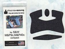 Tractiongrips brand grips for S&W M&P9C, M&P40C pistols / rubber pistol grip set