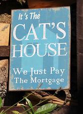 Nostalgisches Blechschild * It´s the Cats House * Katze * 26 x 35 cm * Neu