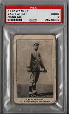 1922 W575-1 Zach Wheat Hand Cut PSA 2 CS114
