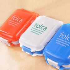 Travel 8 Compartment Medicine Tablet Holder Organizer Dispenser Case Pill Box TY