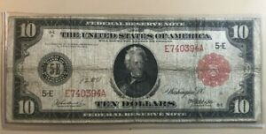 1914 $10 ten dollars Federal Reserve note Richmond red seal