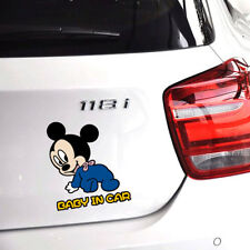 Fun &cute car decal/ sticker of Disney Mickey Mouse Baby In Car / Baby on Board