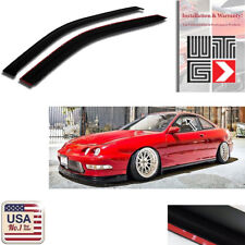 Window Visor Vent Shade Rain Sun Guard Smoke For 1994-2001 Acura Integra 2 Door
