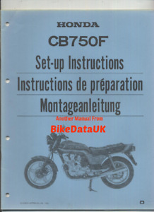 Honda CB750F DOHC (1983 >>) Genuine Dealers PDI Set-Up Manual CB 750 F FD CP37