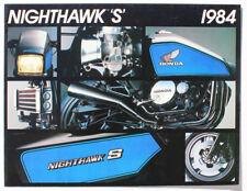 """Vintage Honda 1984 Nighthawk """"S"""" Sellers Sale Brochure"""