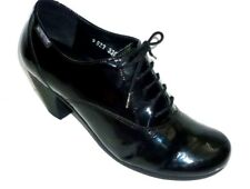 MEPHISTO black patent leather lace up formal work business court shoes UK 4.5