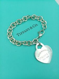 Tiffany & Co Return To Tiffany Sterling Silver X Large Heart Tag Bracelet 7.5""