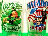 MACADO'S COLLECTIBLE BAR GLASSES (2)☆ SUMMER 2019! USA! ☆ST.PAT'S DAY 2017☆ PINT