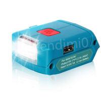 Makita 10.8V/12V(MAX) Slider Li-ion Battery USB POWER SOURCE Adapter w/140lm LED
