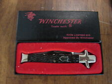 "Vintage Winchester W 15 1901 Bow-Tie Knife Rogers Bone Handle 3 7/8"" closed new"