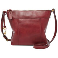 NWT Fossil Jori Cabernet Pebble Leather Crossbody SHB1982607 $168 Retail