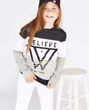 T-shirts, hauts et chemises noir coton mélangé à col rond pour fille de 2 à 16 ans