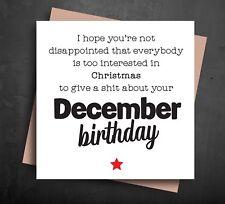 FUNNY BIRTHDAY CARDS christmas december birthday rude cheeky humour friend B57