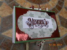 HANDMADE MEMORY BOOK / PHOTO ALBUM - IDEAL PRESENT - CHRISTMAS