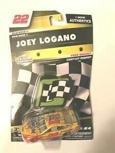 2018 Wave 11 Joey Logano Raced Win 1/64th Scale Authentics Package Creased