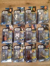 Star Wars Clone Wars Lot Of 12 Wave 5 BNIB immaculate With Battle Card