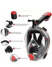 Snorkel Mask Diving Mask Scuba Snorkel Anti Fog With Go Pro Camera Mount S/M
