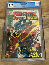 Fantastic Four #99 CGC 9.2 - 1970 - Inhumans - White Pages!