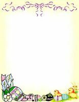 Easter Eggs & Chicks Stationery Printer Paper 26 Sheets