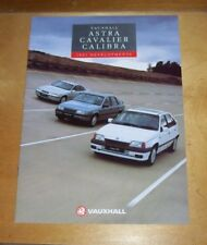 VAUXHALL ASTRA CAVALIER CALIBRA 1991 DEVELOPMENTS SALES BROCHURE August 1990