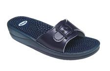 Scholl New Massage Sandals Flip Flops Sliders in Navy Blue UK4 EU37