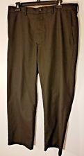 Haggar Mens Dress Pants 36x30 Black Flat Front No Iron Wrinkle resistant