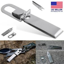 Stainless Steel EDC Mini Tweezers Tension Detachable Keychain Tool Survival EDC