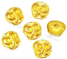 lot de 6 BOUTONS originaux créateur en métal doré Noeud 19mm X 18mm button