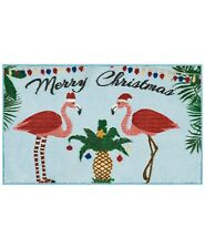 """Nourison Flamingo Holiday 18"""" x 30"""" Accent Rug"""