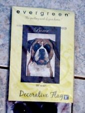 "Boxer Dog Decorative Evergreen Outdoor Flag 29"" X 43"" New"