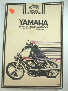 Yamaha Motorcycle Repair Manuals Literature 1974 For Sale Ebay