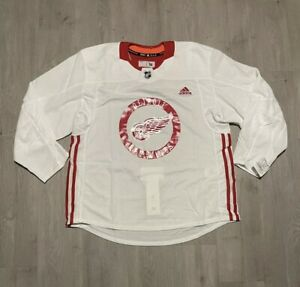 Adidas Detroit Red Wings Climalite White Authentic NHL Hockey Jersey Size 56