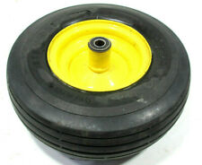 OEM JOHN DEERE Z425 EZ TRAK FRONT LEFT OR RIGHT CASTER WHEEL TIRE & RIM SN # BRK