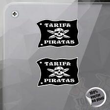 PEGATINA TARIFA PIRATAS LOGO SURF KITESURF VINYL STICKER DECAL ADESIVI