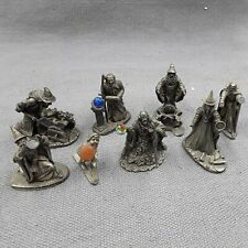 More details for mark locker fantasy figures x7 - pewter wizards inc merlin plus 1 gnome on skis