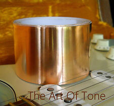 "10 FEET X 60mm Copper Foil Tape EMI Shielding for Guitar & Pedals / 10' X 2.36"""