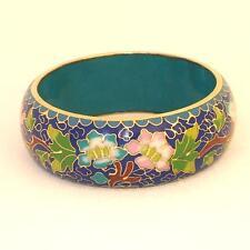 Âge cloisonné Bracelet Large 3 cm 726.2 Ver-OR-ET CLOISONNE BRACELET Ancien _ H