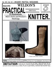 Weldon's 2D #381 c.1916 Popular Book of Vintage Sock Knitting Patterns